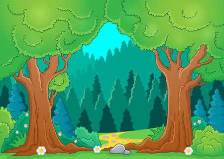 Tree theme image  Vector