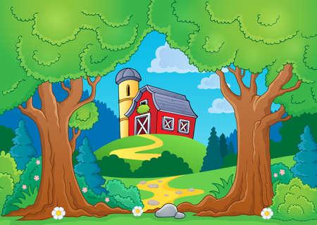 farmstead: Tree theme with farm