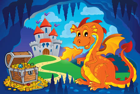 wyvern: Fairy tale image with dragon 7