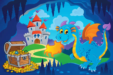 wyvern: Fairy tale image with dragon 8