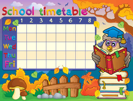 timetable: School timetable composition 2 - eps10 vector illustration