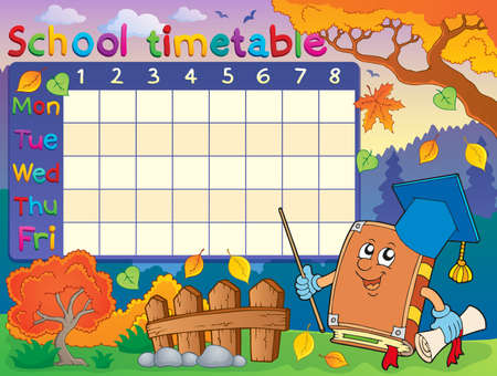 time table: School timetable composition 3  Illustration