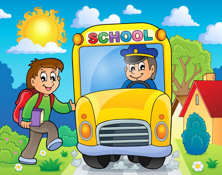 Image with school bus theme 6 - eps10 vector illustration  Vector