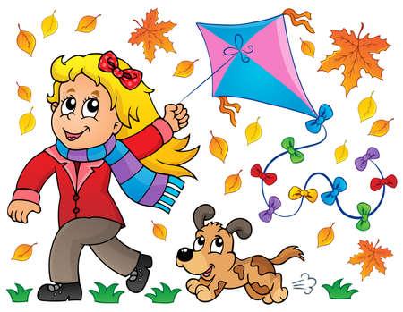 dog run: Kites theme image 7 - eps10 vector illustration  Illustration