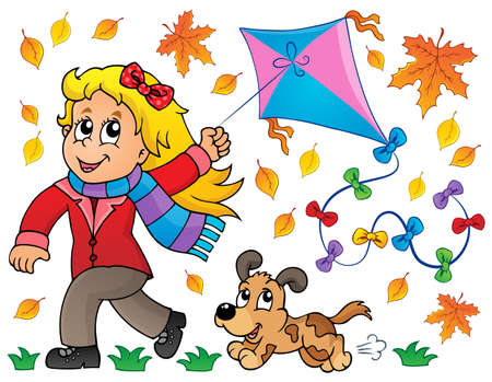 Kites theme image 7 - eps10 vector illustration  Illustration