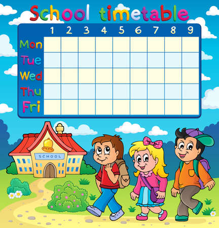 time table: School timetable composition Illustration