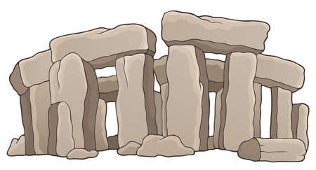 Ancient stone monument theme  Illustration