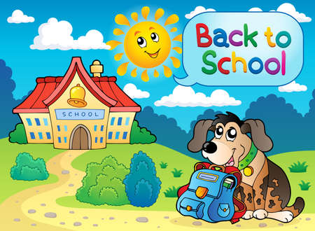 english countryside: Back to school thematic image