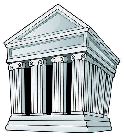 roman columns: Greek theme image  Illustration