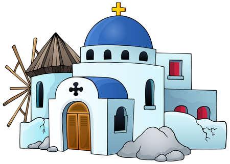 architectural styles: Greek theme image  Illustration