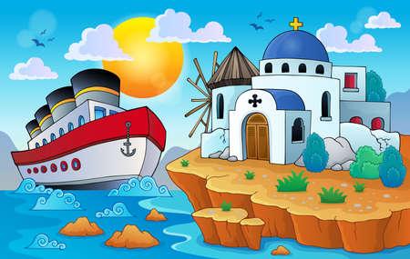 Greek theme image  Illustration