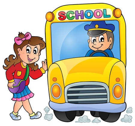 schoolbus: Image with school bus theme