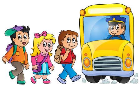 schoolbus: Image with school bus topic