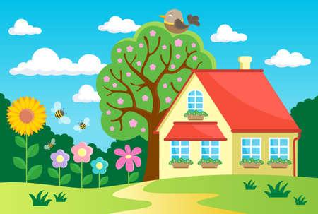 Garden theme image Stock fotó - 31384539