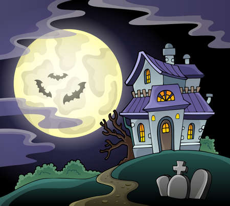 Haunted house theme image   Illustration
