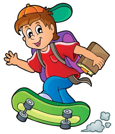Image with school boy theme