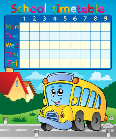 english countryside: School timetable composition