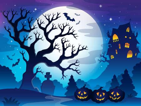 haunted tree: Spooky tree theme image