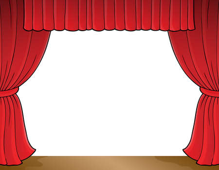 curtain design: Stage theme image 1 - eps10 vector illustration.