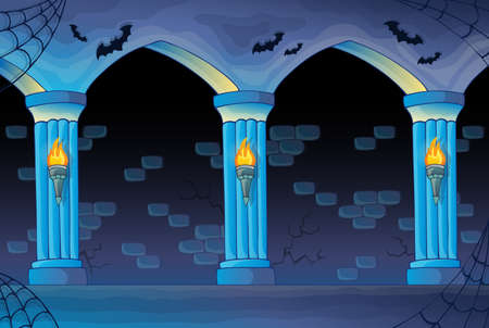 haunted: Haunted castle interior background