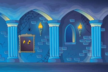 幽霊城のインテリアのテーマ