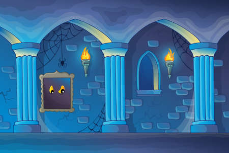 castle interior: Haunted castle interior theme