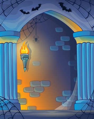 dungeon: Wall alcove image  Illustration