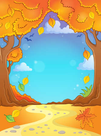 Autumn tree theme composition 2 - eps10 vector illustration.