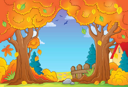 Autumn tree theme composition 1 - eps10 vector illustration. Illustration