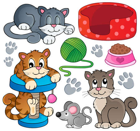 domesticated: Cat theme collection 1 - eps10 vector illustration. Illustration