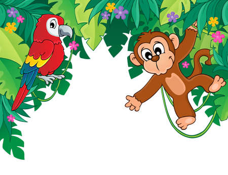 animal themes: Image with jungle theme 5 - eps10 vector illustration.
