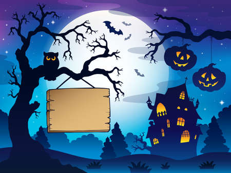 Scenery with Halloween thematics 3 - eps10 vector illustration. Vector