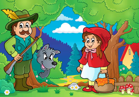 the little red riding hood: Hada imagen Tema cuento 2 - ilustraci�n vectorial eps10. Vectores