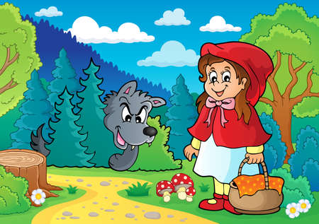 little red riding hood: Fairy tale theme image 1 - eps10 vector illustration.