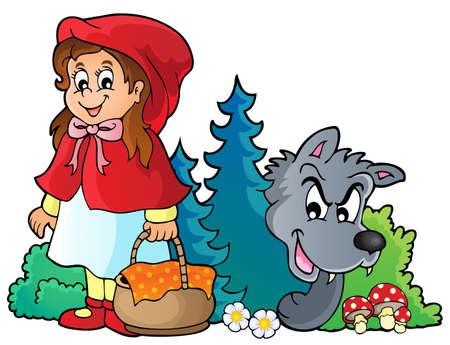 테마: Fairy tale theme image 4 - eps10 vector illustration.