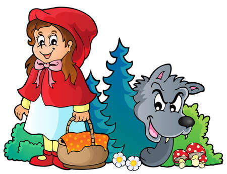 little red riding hood: Fairy tale theme image 4 - eps10 vector illustration.