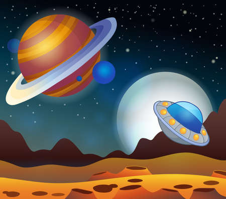 Image with space theme 2 - eps10 vector illustration. Vector