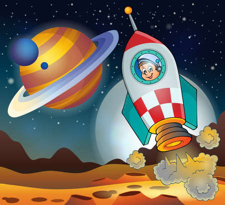 Image with space theme 3 - eps10 vector illustration. Illustration
