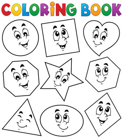 Coloring book various shapes Stock Vector - 33939360