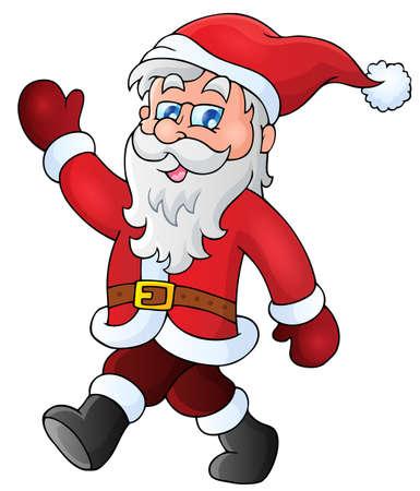 stride: Santa Claus walk theme  Illustration