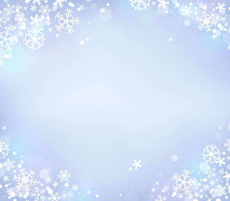 Snowflake theme background Stock Vector - 33940100