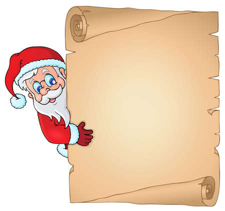 lurk: Christmas topic parchment 2 - eps10 vector illustration. Illustration