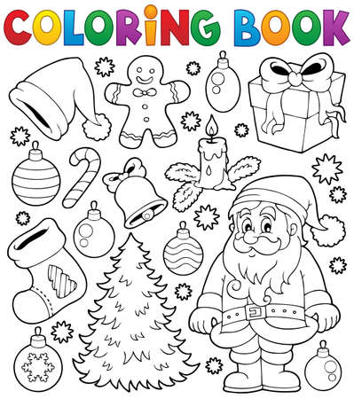 Coloring book Christmas thematics 4