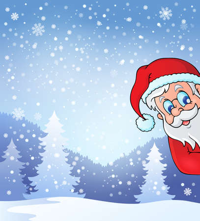 lurking: Theme with lurking Santa Claus