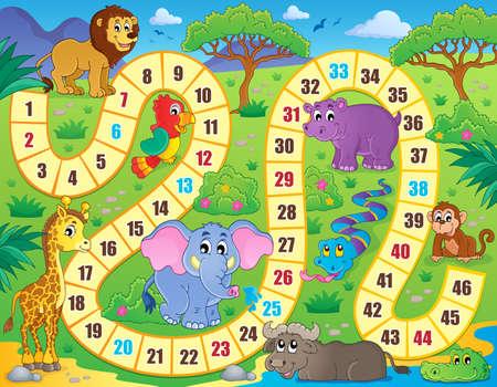 Image bordspel thema Stock Illustratie