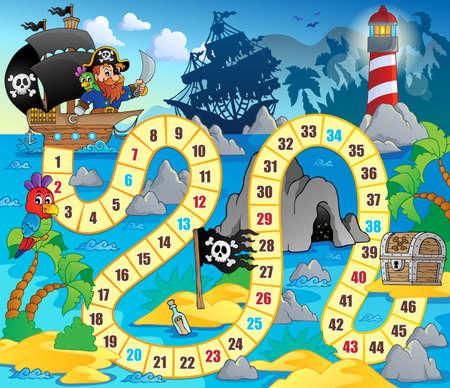 pirata: Imagen del tema Juego de mesa Vectores