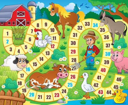 animal farm duck: Board game theme image  Illustration