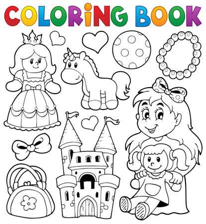 Coloring mit Spielzeug thematischen Buch