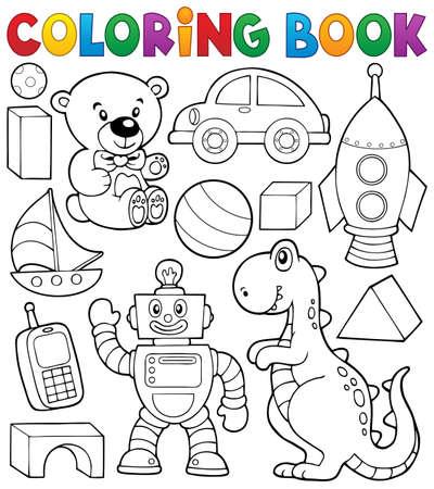 주제 장난감 색칠하기 책
