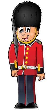 guarding: Happy Beefeater guard